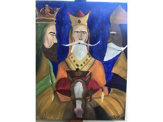 Pintura de los Santos reyes , Puerto Rico