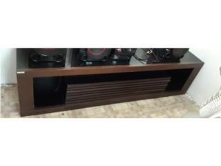 Mesa para el Tv en madera y futón negro, Puerto Rico