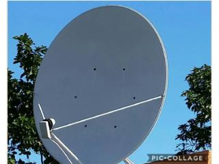 Antena de 4 pies aluminio con LNB y switch., Puerto Rico
