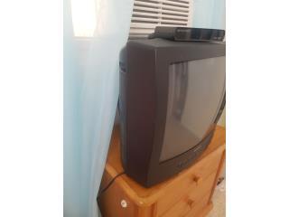 Tv 19 pulgadas analogo con caja convertidora, Puerto Rico