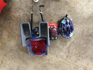 Silla de bebe para bicicleta incluye casco, Puerto Rico