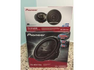 Bocinas PIONEER (Set) speakers y subwoofer, Puerto Rico