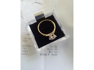Sortija oro 18K con diamante 1/4, Puerto Rico