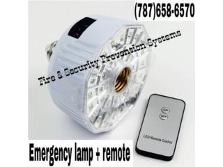 EMERGENCY LAMP +REMOTE, Puerto Rico