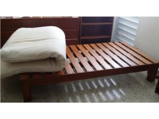 Plataforma para mattress twin en caoba, Puerto Rico