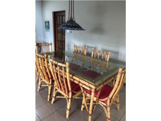 Mesa de comedor de rattan manao 6 sillas , Puerto Rico