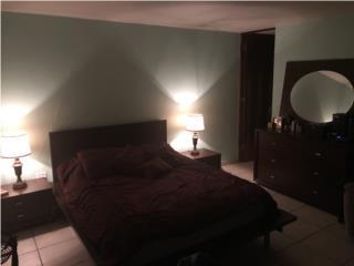 Juego-Cuarto Queen, Gavetero, 2 mesas, 2 lamp, Puerto Rico