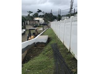 Verja en PVC desmontada , Puerto Rico