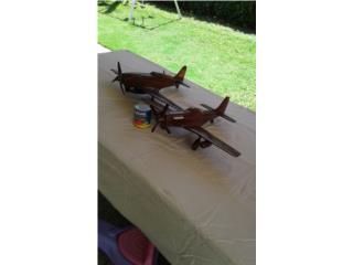 aviones colección en madera, Puerto Rico