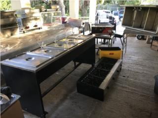 Steam table con bandejas 5 huecos, Puerto Rico