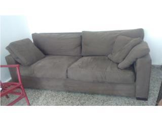 Sofa en Piel color Marron, Puerto Rico