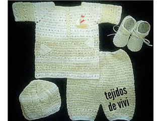 Set tejido de varon, amarillo suave, Puerto Rico
