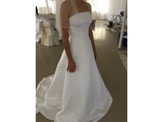 traje de novia blanco sartenes con cola 0/2, Puerto Rico