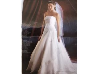 Traje de boda blanco size 2, Puerto Rico