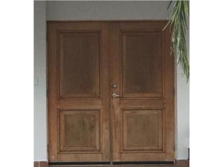 Puerta doble madera, Puerto Rico