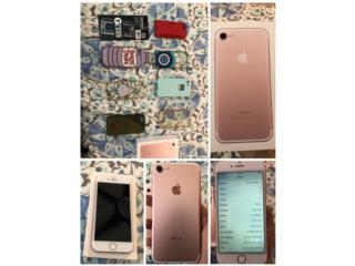 iPhone 7 Rose Gold 128gb (At&t) + Cases, Puerto Rico