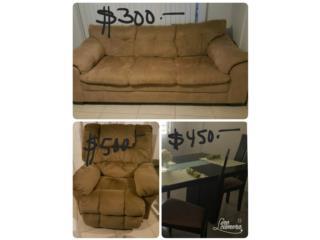 Sofa, Juego comedor y sofá reclinable electri, Puerto Rico