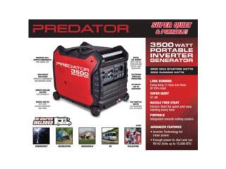 Generador Predator 3500 Inverter, Puerto Rico