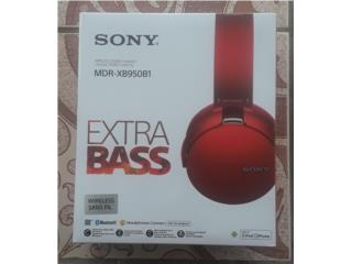 SONY EXTRA BASS RED - WIRELESS EARPHONES, Puerto Rico