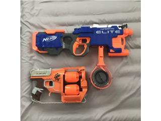 2 pistolas Nerf $50, Puerto Rico