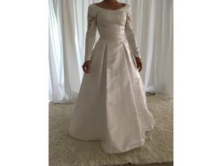 traje de novia blanco con mangas 8/10, Puerto Rico