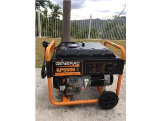 GENERADOR GENERAC GP5500/6875 WATTS , Puerto Rico