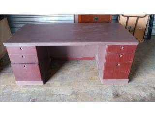 escritorio madera solida de verdad, Puerto Rico