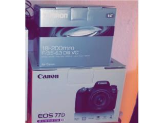 Canon 77D con lente, Puerto Rico