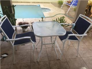Juego de terraza 2 sillas alta y mesa, Puerto Rico