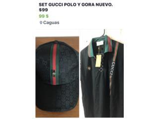 SET GUCCI POLO Y GORA NUEVO. $99, Puerto Rico
