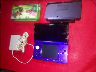 Nintendo 3DS con cargador, cover y cradle adapter, Puerto Rico