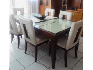Juego de comedor- 6 sillas- $275, Puerto Rico