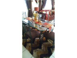 Juego de comedor de 6 sillas $180.00, Puerto Rico