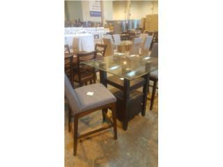 Juego de comedor moder 4 sillas gris nueva en, Puerto Rico