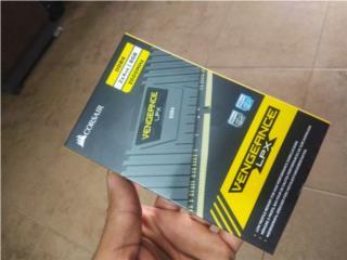 MEMORIA RAM 2 X 4GB VENGEANCE LPX 3000MHz DDR4 , Puerto Rico