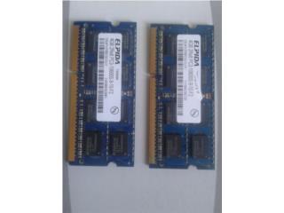 Laptop - Memorias 8GB PCR3 10600S , Puerto Rico