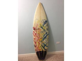 """Tabla de surf 5'10 18"""" FCS 2, Puerto Rico"""