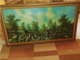 Cuadro Wichie Torres 4x3 oleo 1978, Puerto Rico
