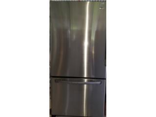nevera de 2 puertas de 32¾ amana freezer abajo , Puerto Rico
