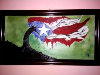Pintura al Óleo 24x14, Puerto Rico