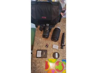 Nikon D3500 con accesorios, $380.00, Puerto Rico