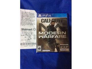 Vendo juego de PS4 Callof Duty modern warfare, Puerto Rico