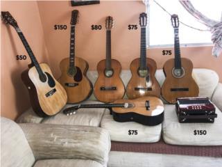 Venta de Guitarras y Acordeon, Puerto Rico