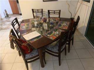 Juego de comedor oriental ¡como nuevo!, Puerto Rico