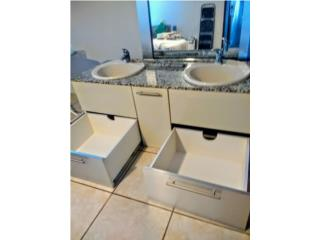 Mueble con dos lavamanos tope en Granito, Puerto Rico