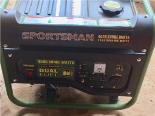Generador electrico Sportman, dual como nuevo, Puerto Rico