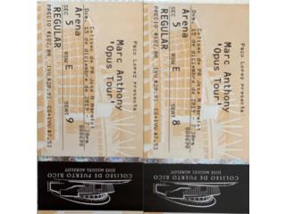 2 boletos en arena para concierto Marc Anthony, Puerto Rico