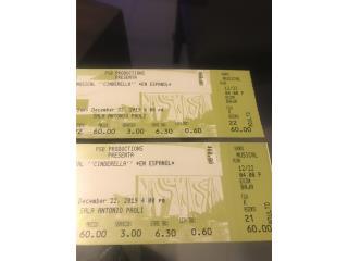 Cinderella Musical boletos  12/22/19, Puerto Rico