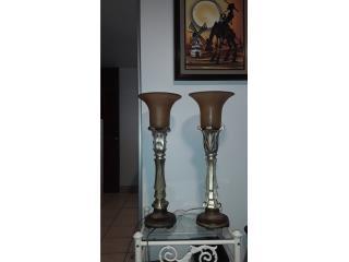 Dos lamparas antiguas, Puerto Rico