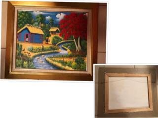 Pintura Enmarcado 2Casa Campo, Flamboyan, Rio, Puerto Rico